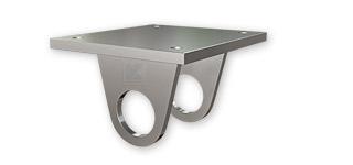 Edelstahl Ankerplatten für unterseitige Geländerbefestigung