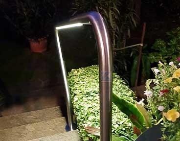 Beleuchteter freistehender Handlauf - besonders gleichmäßiges und dimmbares LED-licht