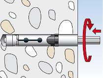 fischer Hochleistungsinnengewindeanker FH II - I - Montageschritt 03