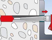 fischer Montagemörtel 300T und Ankerstange FIS A - Durchsteckmontage in Beton - Montage 03