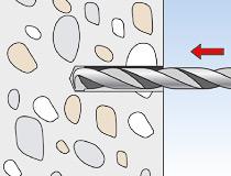 fischer Montagemörtel 300T und Ankerstange FIS A - Innengewindeanker RG MI in Beton - Montage 01