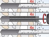 fischer Montagemörtel 300T und Ankerstange FIS A - Innengewindeanker RG MI in Beton - Montage 02