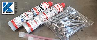 Montagematerial für Geländer und Handläufe aus Edelstahl von Körting Edelstahl - Montagematerial auf die Befestigung der Geländerpfosten abgestimmt und konfekioniert verpackt