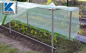 Klemmstücke aus Edelstahl - Montagebeispiel: Gartengestell aus Edelstahlrohr 33,7 mm und Rundmalerial 12 mm für Paprikapflanzen