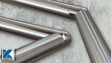 Gelenkbogen aus Edelstahl - verstellbar von +/- 90° für Geländerhandläufe