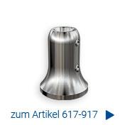 Zur massiven Handlaufstütze mit Bohrung 16 mm zur Aufnahme eines Handlaufträgers aus Rundmaterial 16 mm zum Anschweißen