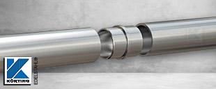 Rohrverbinder aus Edelstahl - für Handläufe aus Edelstahl - Steckfitting zur Verbindung von zwei Edelstahlrohren ø42,4 x 2,0 mm