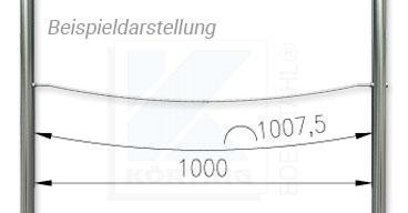 Drahtseil Dehnung in Bezug auf die freie Seillänge