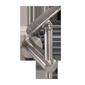 Handlaufhalter mit Gelnek und Anschraubplatte mit verdeckter Wandverschraubung M8