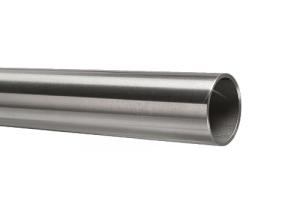Edelstahlrohr 33,7x2,0 mm Werkstoff 1.4571 Korn 600 geschliffen in 6 Meter - Längen oder Zuschnitt auf Maß