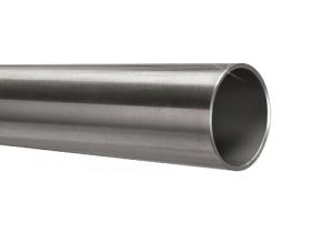 Edelstahlrohr 42,4x2,0 mm Werkstoff 1.4301 Korn 600 geschliffen in 6 Meter - Längen oder Zuschnitt auf Maß