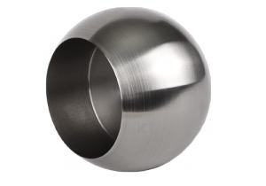 Produktansicht Rohrabschlusskugel mit Sicherungsstift M6 zum Aufstecken, für Edelstahlrohr 42,4x2,0 mm, Werkstoff 1.4301, Oberfläche fein gedreht