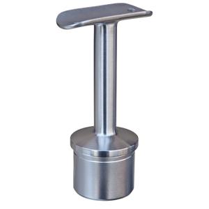 Handlaufstütze mit Anschraubplatte aus Guss zum Einkleben in Edelstahlrohr 42,4x2,0 mm - Produktansicht