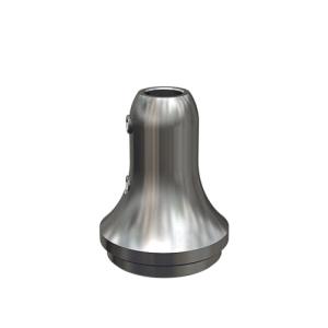 Handlaufstütze zum Einschweißen in Rohr mit Bohrung und Arretierschrauben für Hanflaufaufnahme aus Rundmaterial 12 mm