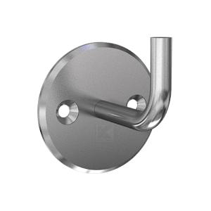 Handlaufhalter für Handlauf aus Edelstahl, Handlaufträger gebogen zum Anschweißen des Handlaufes, Ronde 86 mm gedreht mit Fase