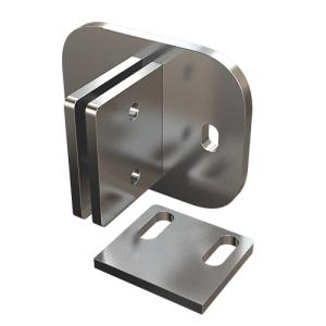 Edelstahl Ankerplatte 150x120x10 mm, verstellbar zur seitlichen Montage von Geländerpfosten