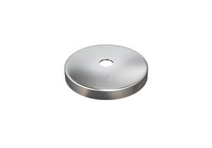 Abdeckrosette 76x12 mm mit Loch 12,5 mm aus Edelstahl V2A