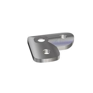 Anschraubplatte für eine 90°-Ecke mit Gehrungsbogen zur Montage eines Edelstahlrohres oder Holzhandlaufes im ø40,0 bis ø42,4 mm