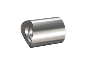 Distanzstück massiv, aus Edelstahl, Länge 30 mm für Rohr 42,4 mm