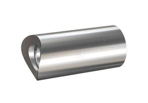 Distanzstück massiv, aus Edelstahl, Länge 50 mm für Rohr 42,4 mm