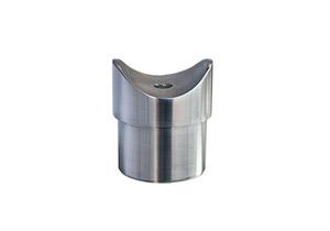 Edelstahl Rohraufnahme zum Einkleben in Rohr 42,4x2,0 mm mit Fräsung für Rohr 42,4 mm