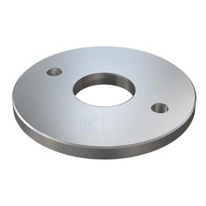 Edelstahl Ronde 125x10 mm zum rückseitigen Verschweißen von Rohr 42,4 mm zur Montage mit Gewindestangen M10