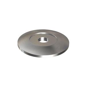 Edelstahlronde 80x8 mm als Auflagevergrößerung für die Montage von Pfosten aus Edelstahl bei Pfostenbefestigungen mit eingeschweißter Gewindescheibe