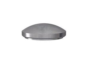 Endkappe für Edelstahlrohr 42,4 mm, gewölbt, massiv, zum Verschweißen