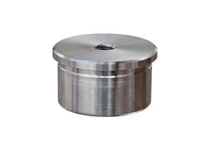 Endkappen gerade mit Innengewinde M8 zum Einkleben in Edelstahlrohr 42,4x2,0 mm, Guss
