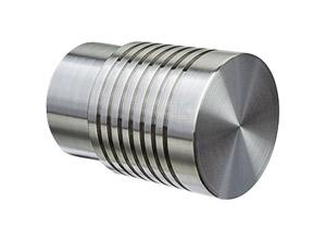 Endkappe mit Rillen für Edelstahl Handlauf 42,4x2,0 mm