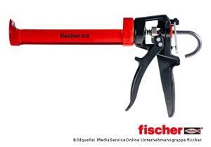 fischer Auspresspistole KP M 2 - hochwertige Auspresspistole für Silikonkartuschen