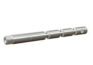 Gewindeanker aus Edelstahl V4A mit Innengewinde M10 und Außengewinde M16x1 zur universellen Montage mit Injektionsmörtel in Beton