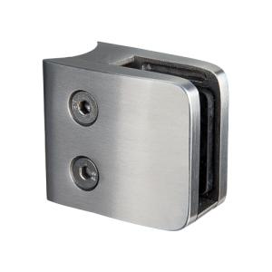 Glasklemmhalter aus Edelstahl, viereckig 53x53 mm, Rundrohr- Anschluss - Produktansicht