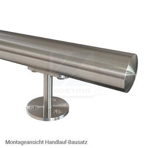 Edelstahl Handlauf Bausatz - bestehend aus Rohr ø 42,4x2,0 mm und Handlaufhalter 641-101-14