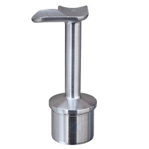 Handlaufstütze mit 90°-Anschraubplatte aus Guss zum Einkleben in Edelstahlrohr 42,4x2,0 mm - Produktansicht