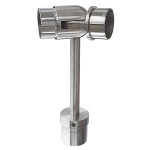 Handlaufstütze zum Einkleben in Rohr 42,4x2,0 mm, mit Gelenkverbinder ±90° für Rohr 42,4x2,0 mm