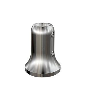 Handlaufstütze zum Anschweißen an Rohr mit Bohrung und Arretierschrauben für Hanflaufaufträger aus Rundmaterial 16 mm