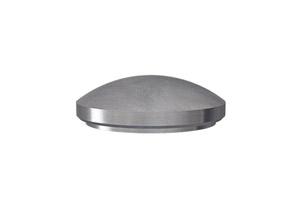 Rohrabschluss für Edelstahlrohr 42,4x2,6 mm, gewölbt, zum Verschweißen