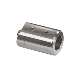 Stabhalter für Geländerpfosten für Rundmaterial 14 mm, mit Sackbohrung in der Stirnseite