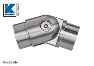 Rohrbogen mit Gelenk 0°-90° zum Einkleben in Rohr 42,4x2,0 mm - Rückseite