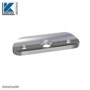 Anschraubplatte mit Durchgangsbohrungen - Ansicht von der Innenseite - mit Vertiefung zur besseren Auflage