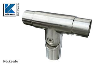 Gelenkverbinder T-Stück zur flexiblen Handlaufbefestigung auf einem Geländerpfosten - Rückseite