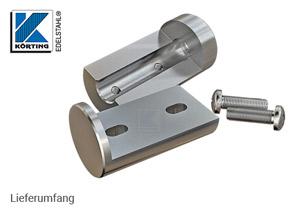 Rohrverschraubung aus Edelstahl zum Verschweißen mit Rohr 42,4 mm - Lieferung inkl. Schrauben