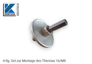 das Montageset wird nur zum Einfräsen des Thermax 16 benötigt, die Klinge kann bis zu 5x verwendet werden.