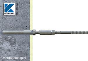 Gewindeanker M8 zur Montage von Edelstahlseil