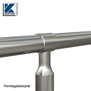 Montagebeispiel: Verwendung eines TRägerringes zur Aufnahme eines Handlaufrohres im Durchmesser von 42,4 mm