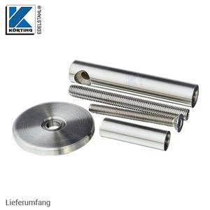 Handlaufhalter mit Senkschraube M6 und Fräsung für Rohr 42,4 mm - Lieferumfang