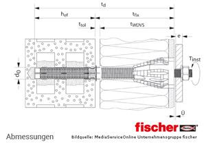 Fischer Abstandsmontagesystem Thermax 16/170-M12 - Lochstein - Montage