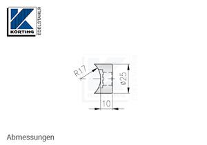 Distanzstück massiv, aus Edelstahl für Rohr 33,7 mm - Abmessungen