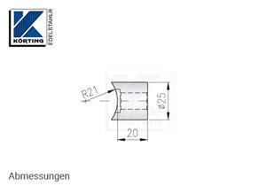 Distanzstück massiv, Länge 20 mm für Rohr 42,4 mm - Abmessungen